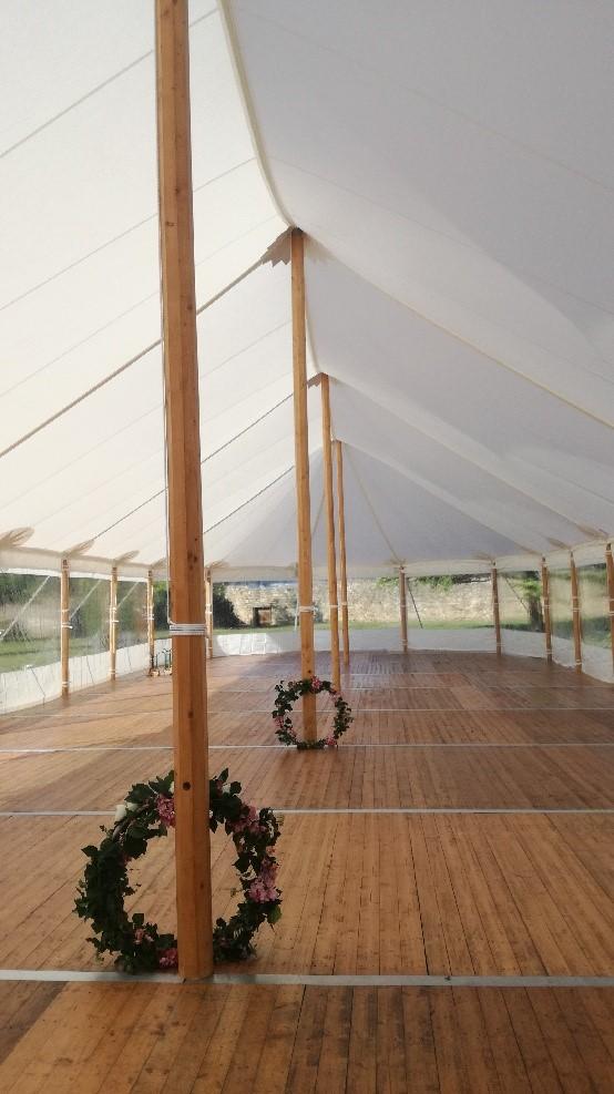 Tente silhouette plancher mariage bretagne morbihan