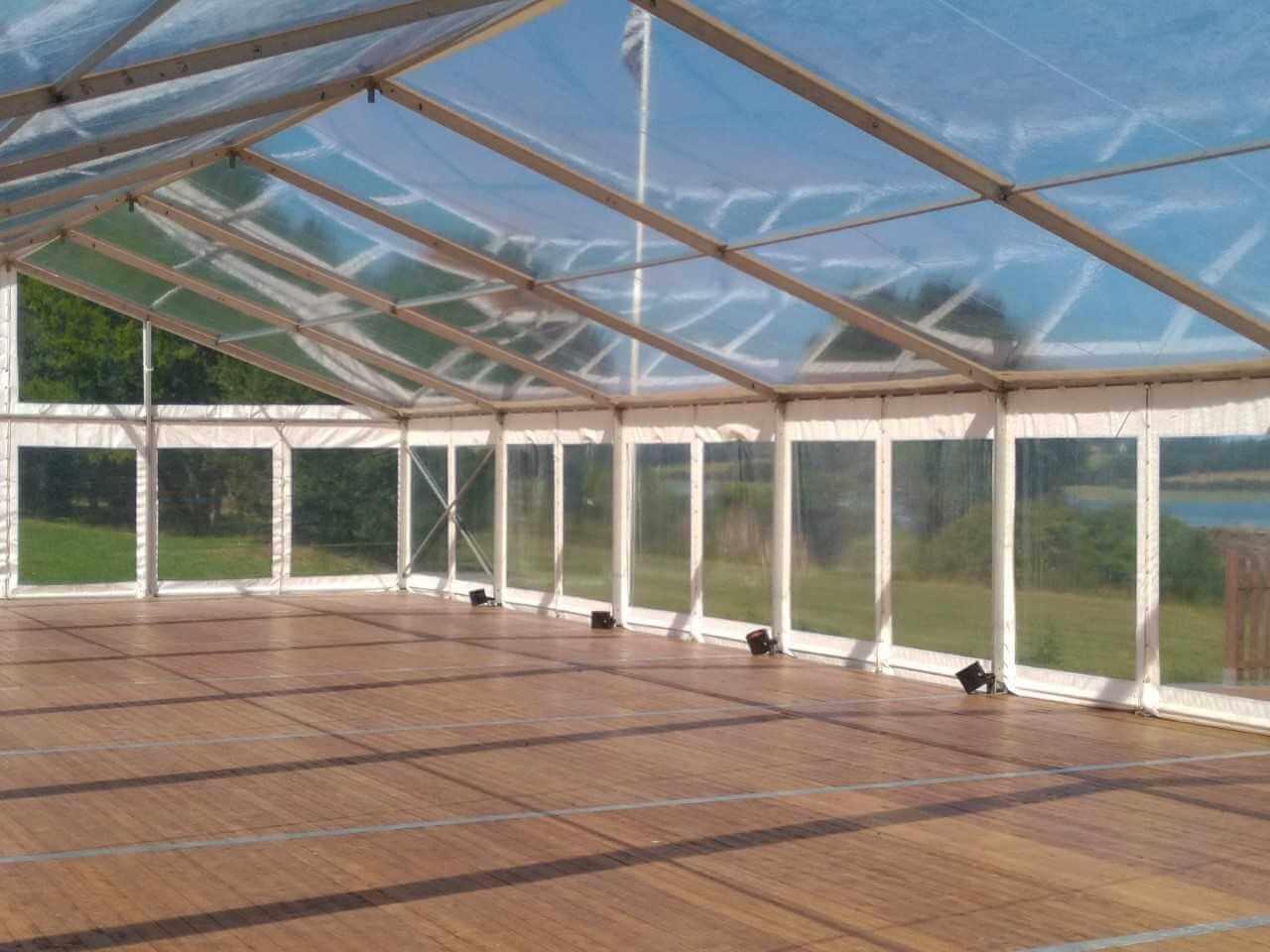 toit cristal pour tente